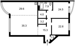 Квартира Антоновича (Горького), 131, Київ, R-26455 - Фото2