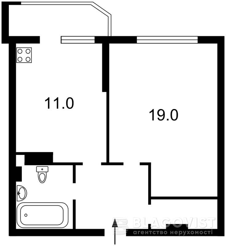 Квартира Z-1390076, Чавдар Елизаветы, 3, Киев - Фото 3