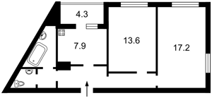 Квартира Конєва Маршала, 5д, Київ, Z-533705 - Фото2