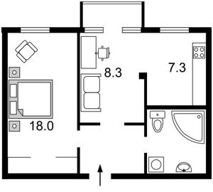 Квартира Гончара Олеся, 14/26, Киев, F-27673 - Фото 2