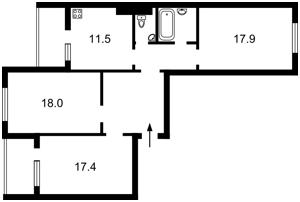 Квартира Здолбуновская, 13, Киев, Z-524565 - Фото2