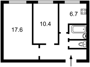 Квартира Коновальця Євгена (Щорса), 15 корпус 4, Київ, Z-537744 - Фото2