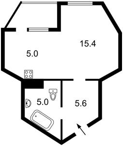 Квартира Ломоносова, 85а, Киев, R-22116 - Фото 2