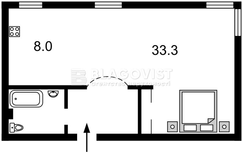 Квартира C-88551, Грушевского Михаила, 28/2, Киев - Фото 4