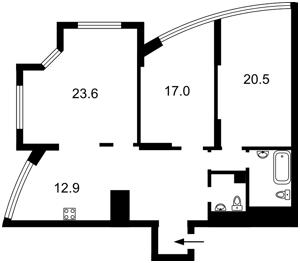 Квартира Героев Сталинграда просп., 4а, Киев, Z-537632 - Фото2