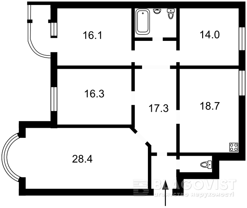 Квартира M-35196, Лабораторний пров., 6, Київ - Фото 6