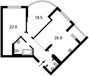 Квартира Максимовича Михаила (Трутенко Онуфрия), 3д, Киев, R-26546 - Фото2