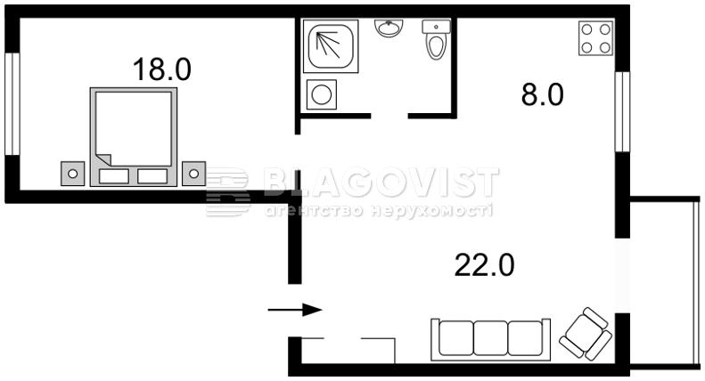 Квартира C-68460, Институтская, 18, Киев - Фото 5