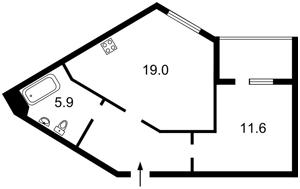 Квартира Заречная, 1г, Киев, Z-439901 - Фото2