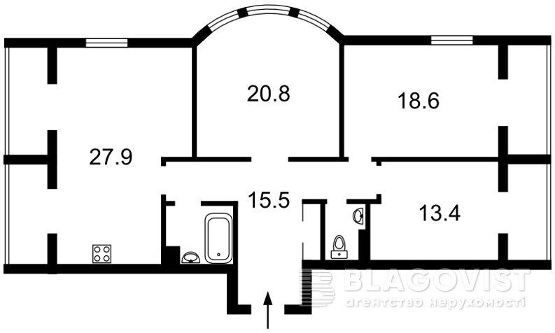 Квартира H-44529, Дегтярная, 6, Киев - Фото 4