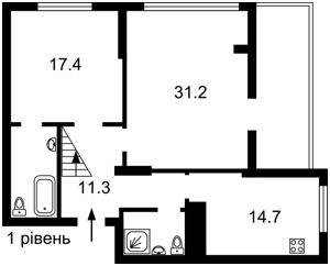 Квартира Коласа Якуба, 2б, Київ, Z-520279 - Фото2