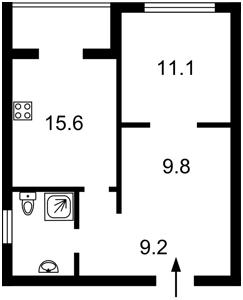 Квартира Мельникова, 51б, Киев, F-41829 - Фото2