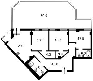 Квартира Володимирська, 49а, Київ, A-110217 - Фото 2