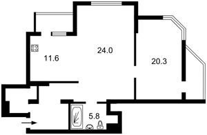 Квартира Краснопольская, 2г, Киев, Z-542155 - Фото 2