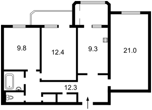 Квартира Победы просп., 89а, Киев, Z-1719252 - Фото2