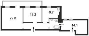 Квартира Сечевых Стрельцов (Артема), 42, Киев, Z-545108 - Фото2