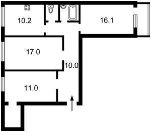 Квартира Дмитрівська, 2, Київ, Z-368090 - Фото2