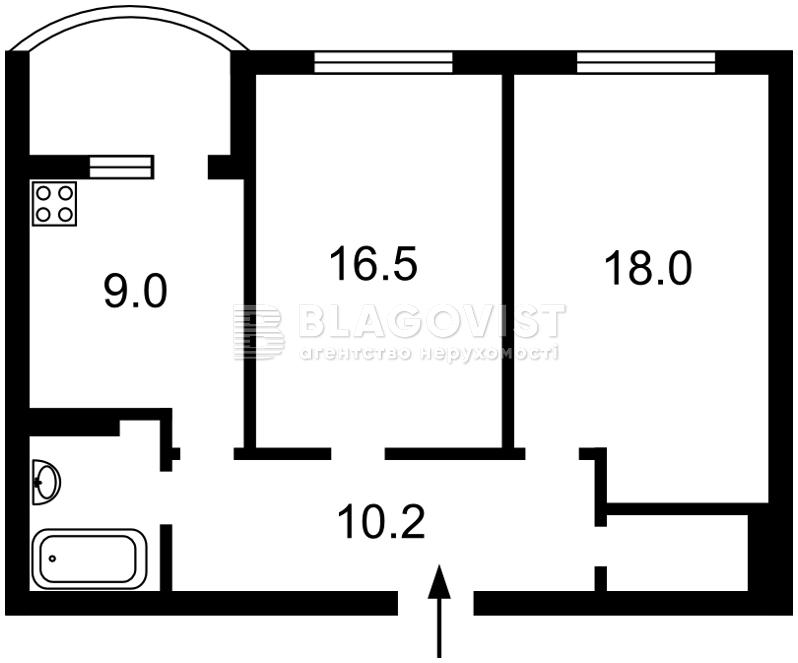 Квартира X-14534, Краснопольская, 2в, Киев - Фото 2