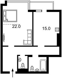 Квартира Липкивского Василия (Урицкого), 37б, Киев, F-41853 - Фото2