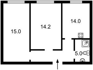 Квартира Рейтарська, 31/16, Київ, Z-563756 - Фото2