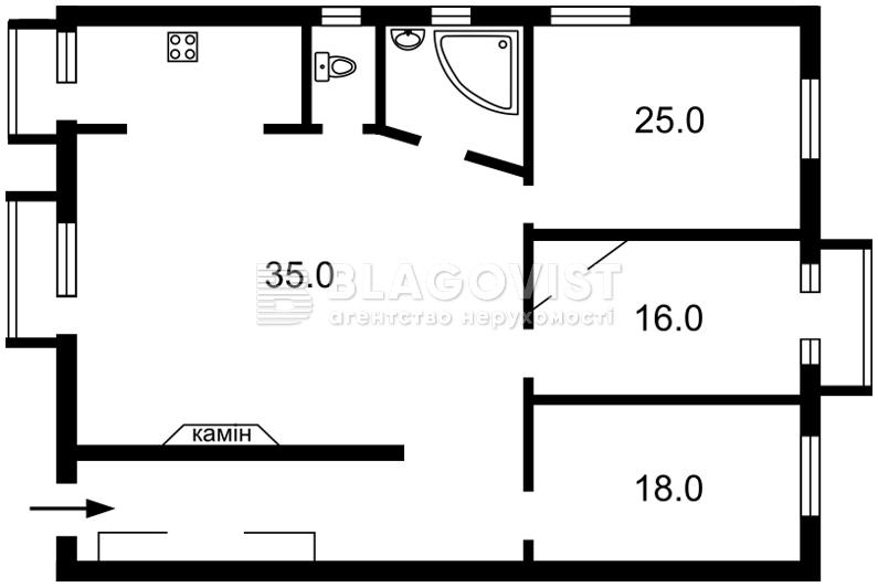 Квартира E-11738, Антоновича (Горького), 4/6, Киев - Фото 3