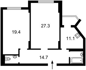 Квартира Окипной Раиcы, 8, Киев, Z-306693 - Фото2