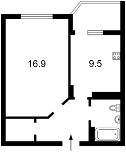 Квартира Калнишевського Петра (Майорова М.), 8, Київ, Z-315598 - Фото 2