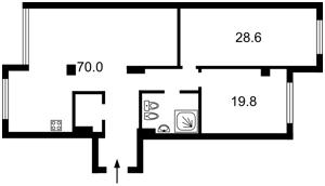 Квартира Драгомирова Михаила, 12, Киев, D-35220 - Фото2