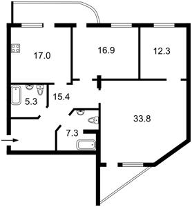 Квартира Черновола Вячеслава, 2, Киев, F-41971 - Фото2