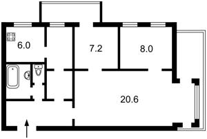 Квартира Городецького Архітектора, 11б, Київ, M-35506 - Фото2