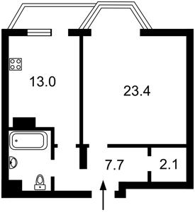 Квартира Липкивского Василия (Урицкого), 37б, Киев, F-41887 - Фото2
