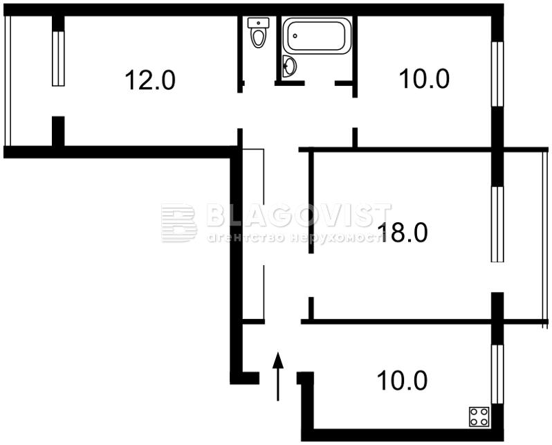Квартира Z-543651, Булгакова, 15, Киев - Фото 4