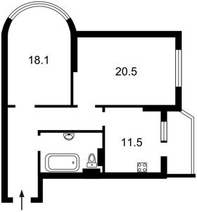 Квартира Чавдар Єлизавети, 7, Київ, R-27507 - Фото2