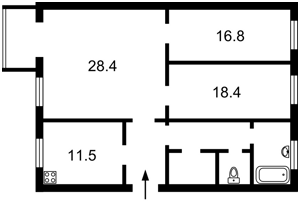 Квартира Хмельницького Богдана, 32, Київ, Z-31960 - Фото2
