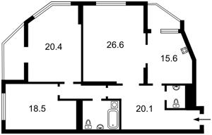 Квартира Чавдар Елизаветы, 2, Киев, Z-532559 - Фото2