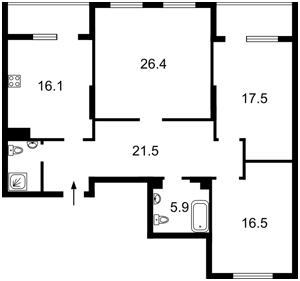 Квартира Патриарха Скрипника (Островского Николая), 40, Киев, Z-550082 - Фото 2