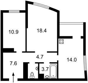 Квартира Оболонский просп., 1 корпус 1, Киев, Z-490220 - Фото2