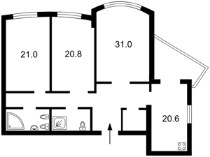Квартира Героев Сталинграда просп., 12ж, Киев, D-35260 - Фото2