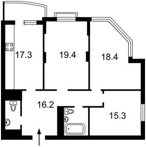 Квартира Курбаса Леся (50-летия Октября) просп., 7а, Киев, Z-965424 - Фото2