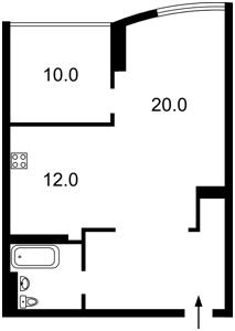 Квартира Моторный пер., 9а, Киев, F-42061 - Фото2
