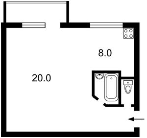 Квартира Голосіївський проспект (40-річчя Жовтня просп.), 82, Київ, H-44390 - Фото2