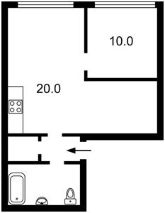 Квартира Зарічна, 4 корпус 2, Київ, F-42013 - Фото 2