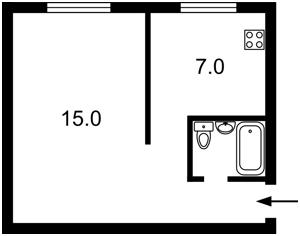Квартира Чоколівський бул., 35, Київ, Z-1537868 - Фото2