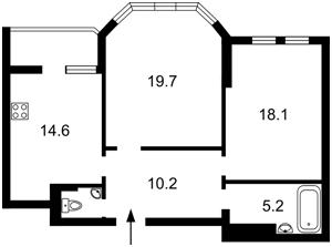 Квартира Бажана Николая просп., 12, Киев, C-75294 - Фото 2