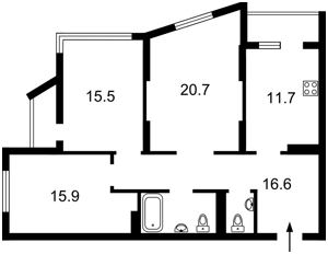 Квартира Малиновского Маршала, 8, Киев, H-44838 - Фото2