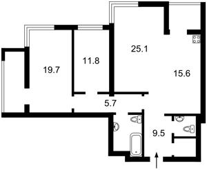 Квартира Лобановского просп. (Краснозвездный просп.), 4б, Киев, E-38739 - Фото2