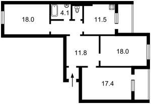 Квартира Ясиноватский пер., 11, Киев, D-35318 - Фото2