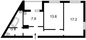 Квартира Конєва Маршала, 5д, Київ, Z-317769 - Фото2