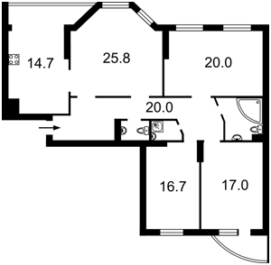 Apartment Mykilsko-Slobidska, 2в, Kyiv, R-28651 - Photo2
