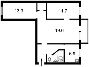 Квартира Щербаківського Данила (Щербакова), 48, Київ, Z-560855 - Фото2